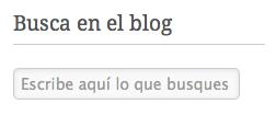 Motor de búsqueda del blog