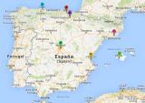 Mapa de España en el Día Mundial delLupus